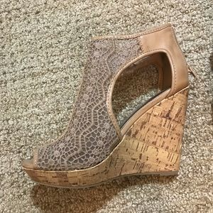 Charming Charlie Nude Wedges
